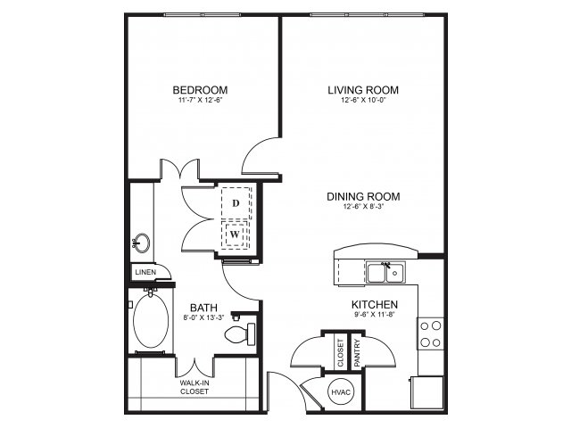 Floorplan 5 | Seventeen Apartments