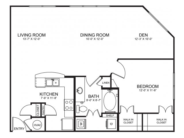 Floorplan 7 | Seventeen Apartments