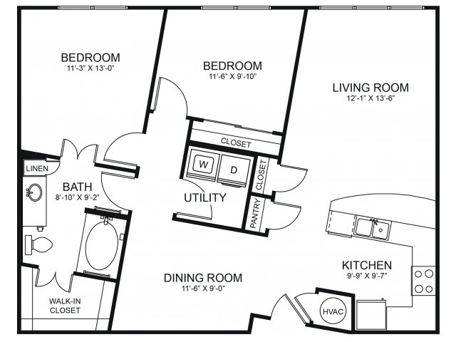 Floorplan 8 | Seventeen Apartments