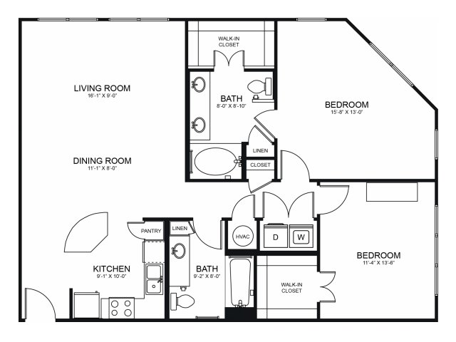 Floorplan 11 | Seventeen Apartments