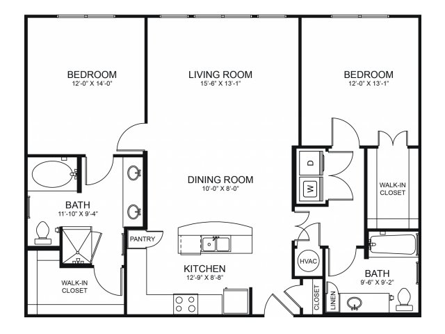 Floorplan 12 | Seventeen Apartments