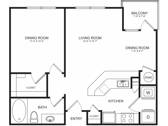 1 Bedroom Floorplans | Seventeen West