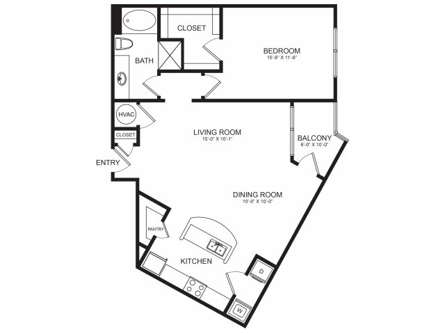 Floorplan 2 | Seventeen Apartments