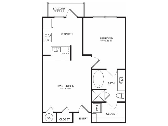 Floorplan 1 | Seventeen Apartments