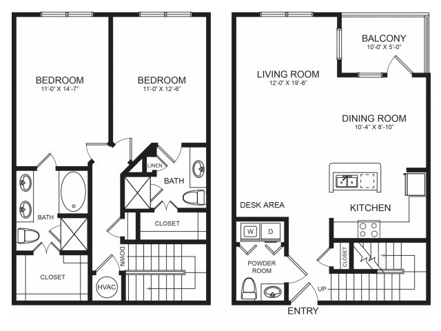 Diverse Floorplans | Seventeen West