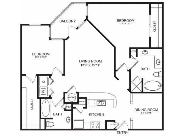 2 Bedroom Spacious Floorplans   Seventeen West
