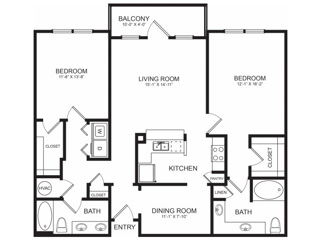 Seventeen West | Spacious Floorplans | Two Bedrooms