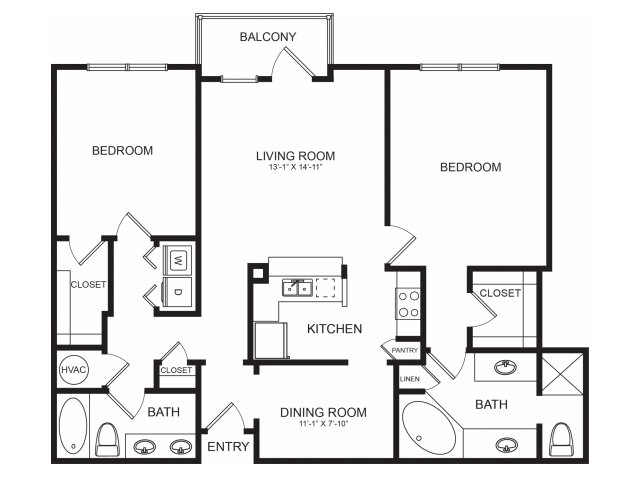 Seventeen West | Diverse Floorplans | Two Bedrooms