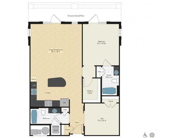 Floor Plan 5 | Luxury Apartments In Bethesda | Upstairs at Bethesda Row