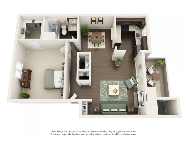 A2 | 1 bed 1 bath | from 772 square feet