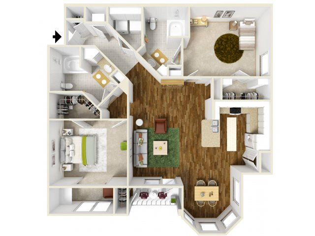 Floor Plan 12 | Deseo at Grand Mission