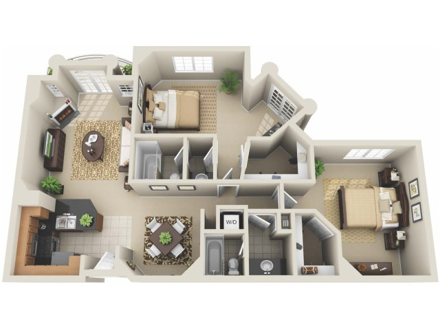 Two Bedroom Floor Plan 6 | Apartments In Los Angeles | The Preston Miracle Mile