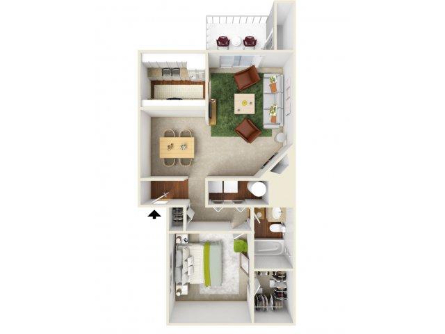 One Bedroom Floorplan | Landmark