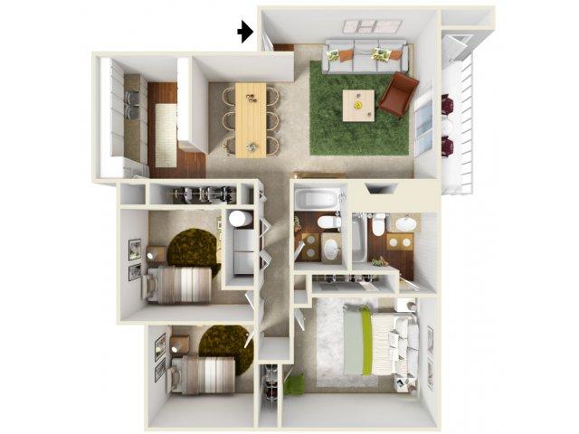 Three Bedroom Floorplan | Landmark
