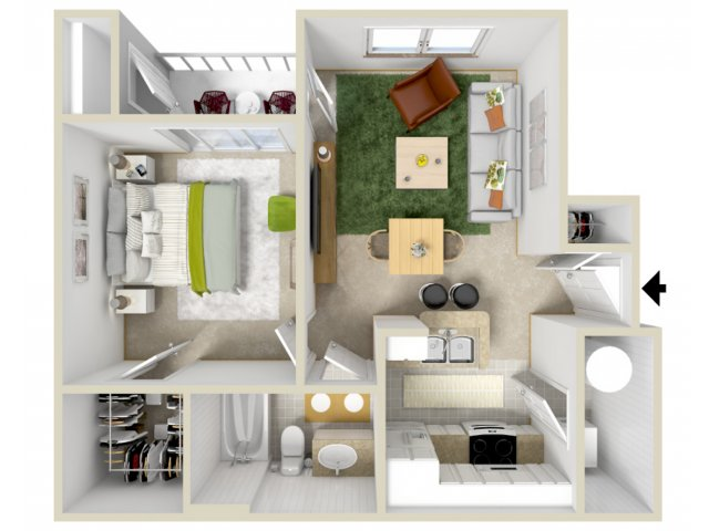Floor Plan | Laurel Canyon Apartments 2
