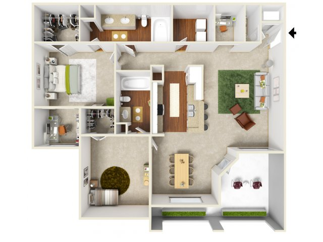 Hidalgo | 2 bed 2 bath | from 1279 square feet