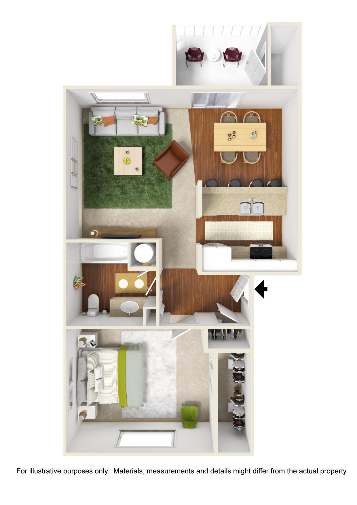 Corvallis Apartments | Spring Creek | Floorplan 3