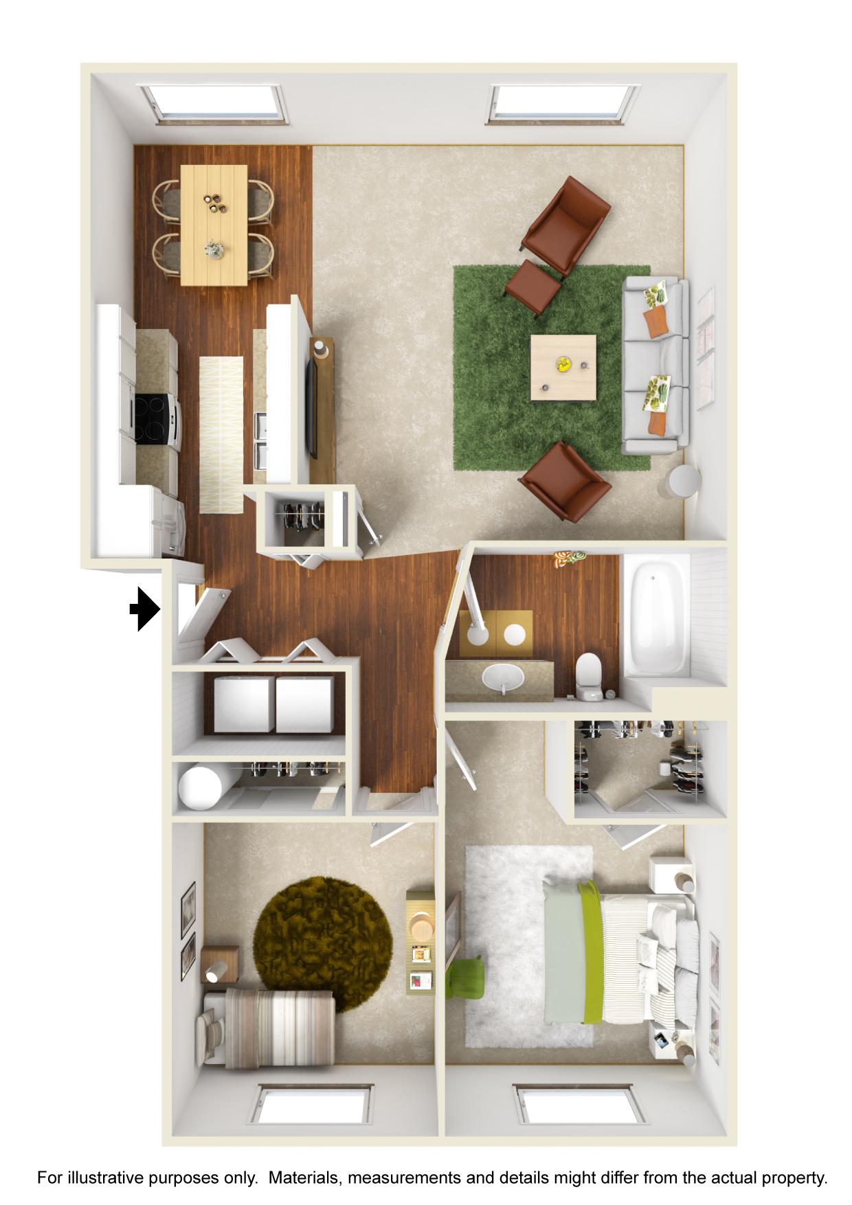 Corvallis Apartments | Spring Creek | Floorplan 2