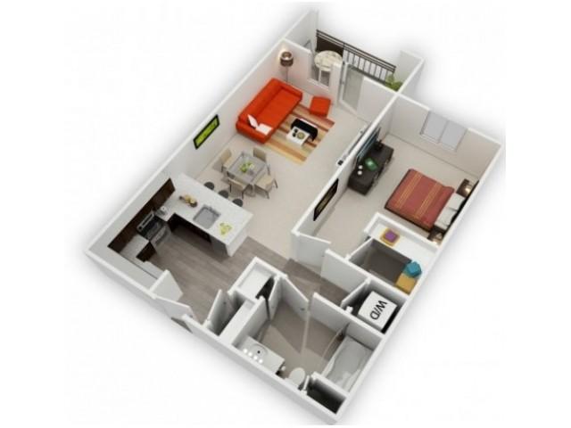 One Bedroom Floorplan | 121 Tasman