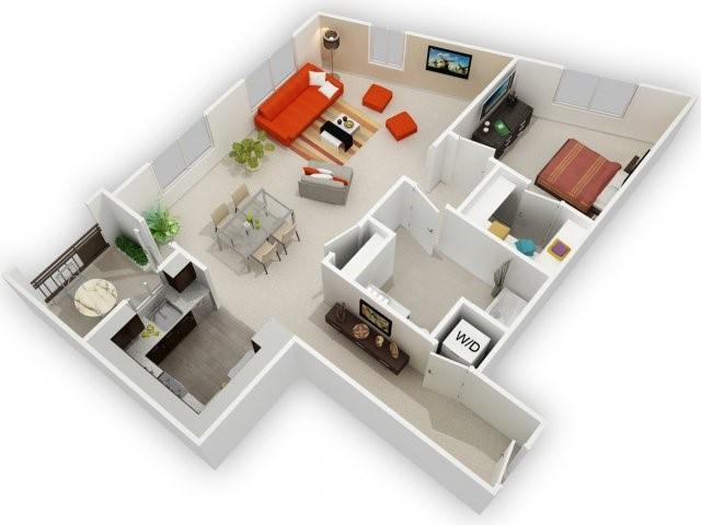 One Bedroom Floorplan | 121 Tasman 5