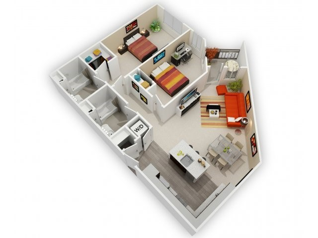 Two Bedroom Floorplan | 121 Tasman 3
