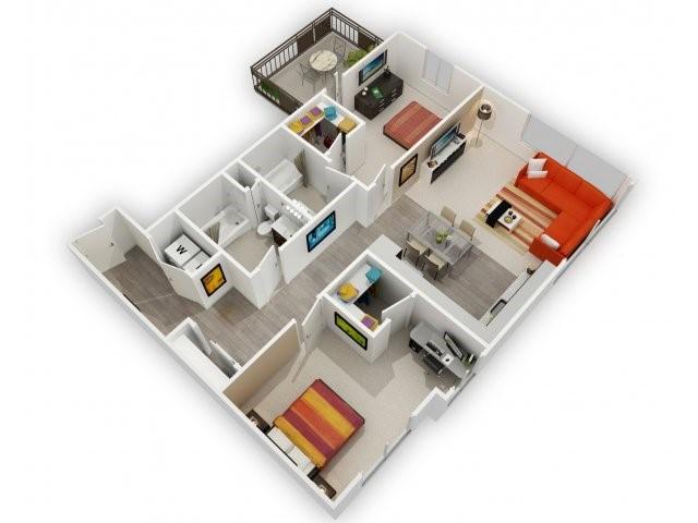 Two Bedroom Floorplan | 121 Tasman 6