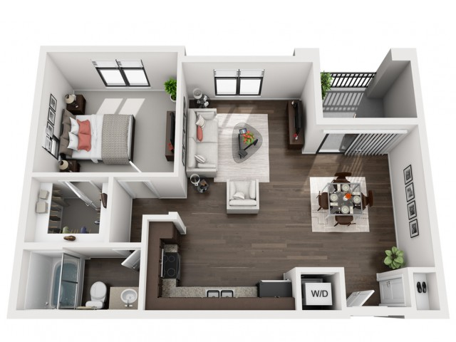 1X1   1 bed 1 bath   from 756 square feet