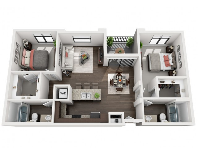 2X2 | 2 bed 2 bath | from 952 square feet