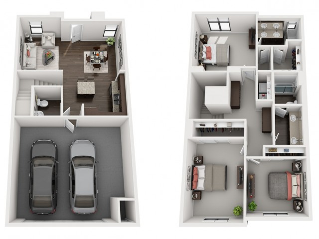 3X2.5   3 bed 2 bath   from 1464 square feet