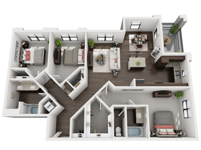 3X2   3 bed 2 bath   from 1319 square feet