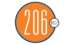 206 Bell Logo | Studio Apt Seattle | 206 Bell