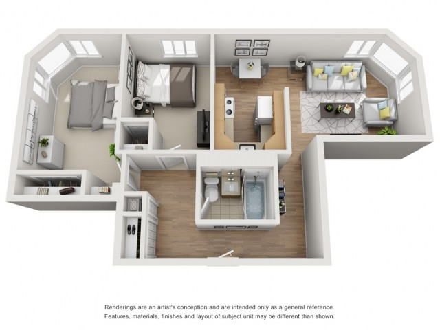2X1 | 2 bed 1 bath | from 846 square feet