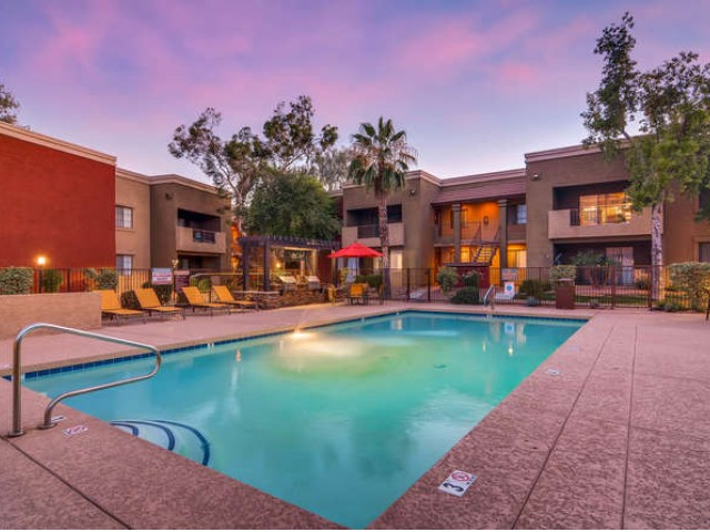 Image of Sparkling Outdoor Pool and Spa for Rockledge Fairways Apartments