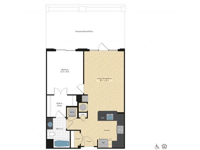 Floor Plan 20   Luxury Apartments In Bethesda   Upstairs at Bethesda Row