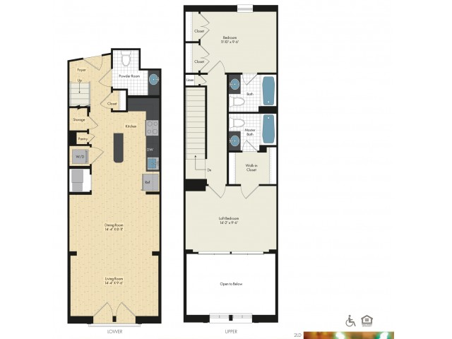 Floor Plan 55   Luxury Apartments In Bethesda MD   Upstairs at Bethesda Row