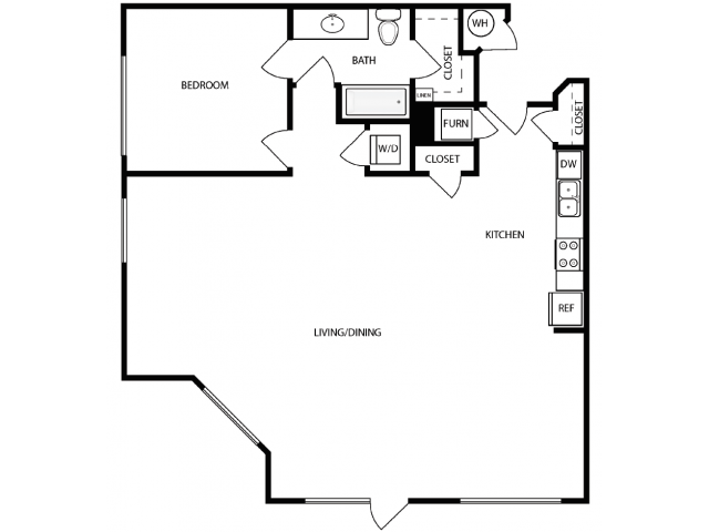 Floor Plan 2 | Apartments West Jordan | Novi at Jordan Valley Station