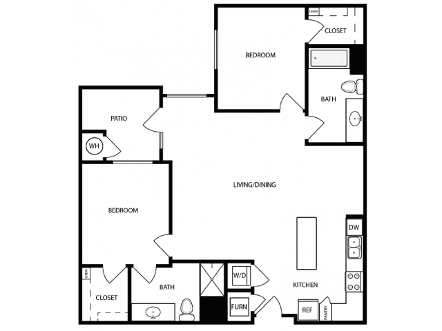 Floor Plan 4 | Apartments For Rent West Jordan Utah | Novi at Jordan Valley Station