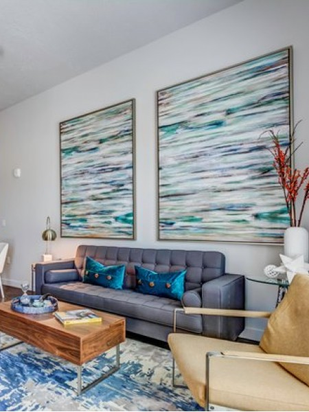 Luxurious Living Area | Apartments In West Jordan | Novi at Jordan Valley Station