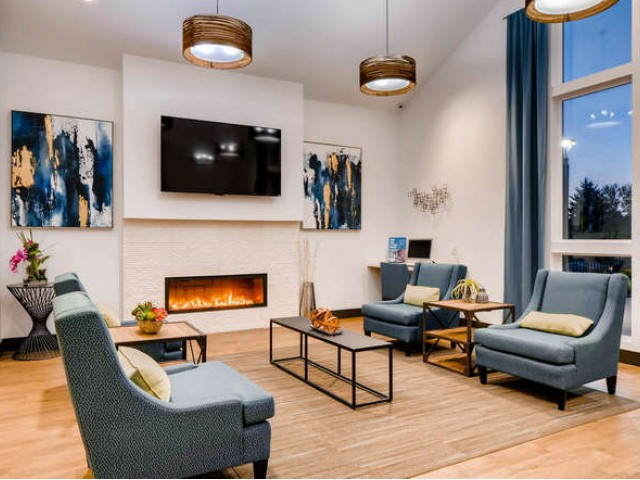 Image of TV   Lounge for Rivercrest Meadows Apartments