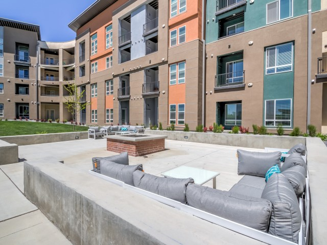 Image of Courtyards with    Fire Pit and BBQ Area for Novi at Jordan Valley Station