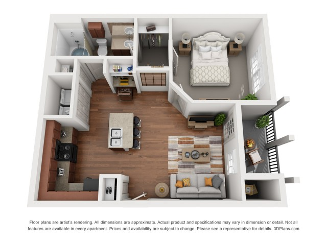 Floor Plan 3 | Austin Apartments | Villages at Turtle Rock