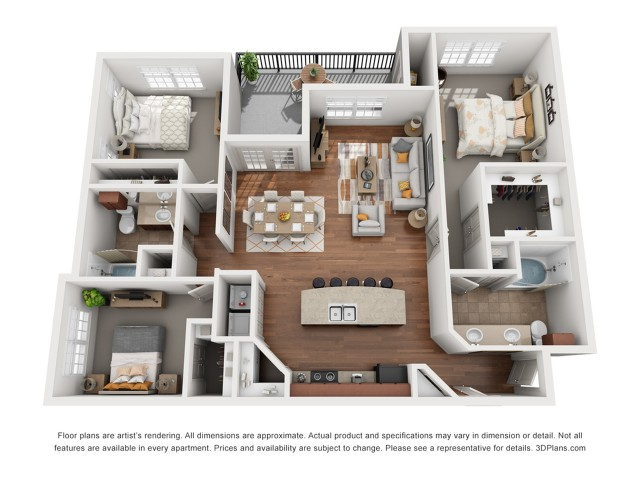 Floor Plan 9 | Austin Apartment | Villages at Turtle Rock