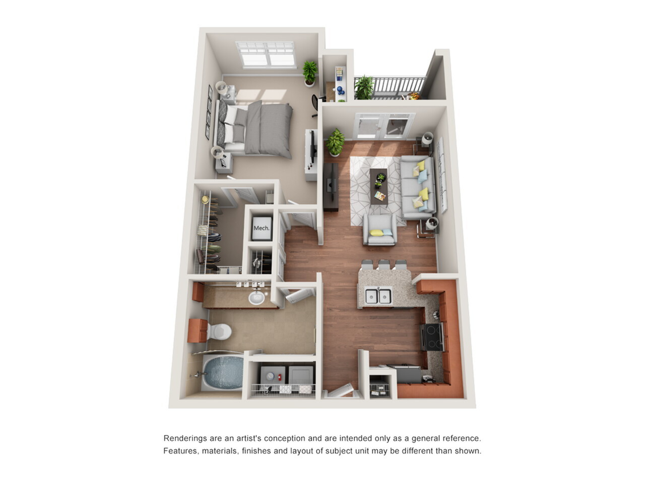 1 Bedroom Floor Plan | Deseo at Grand Mission