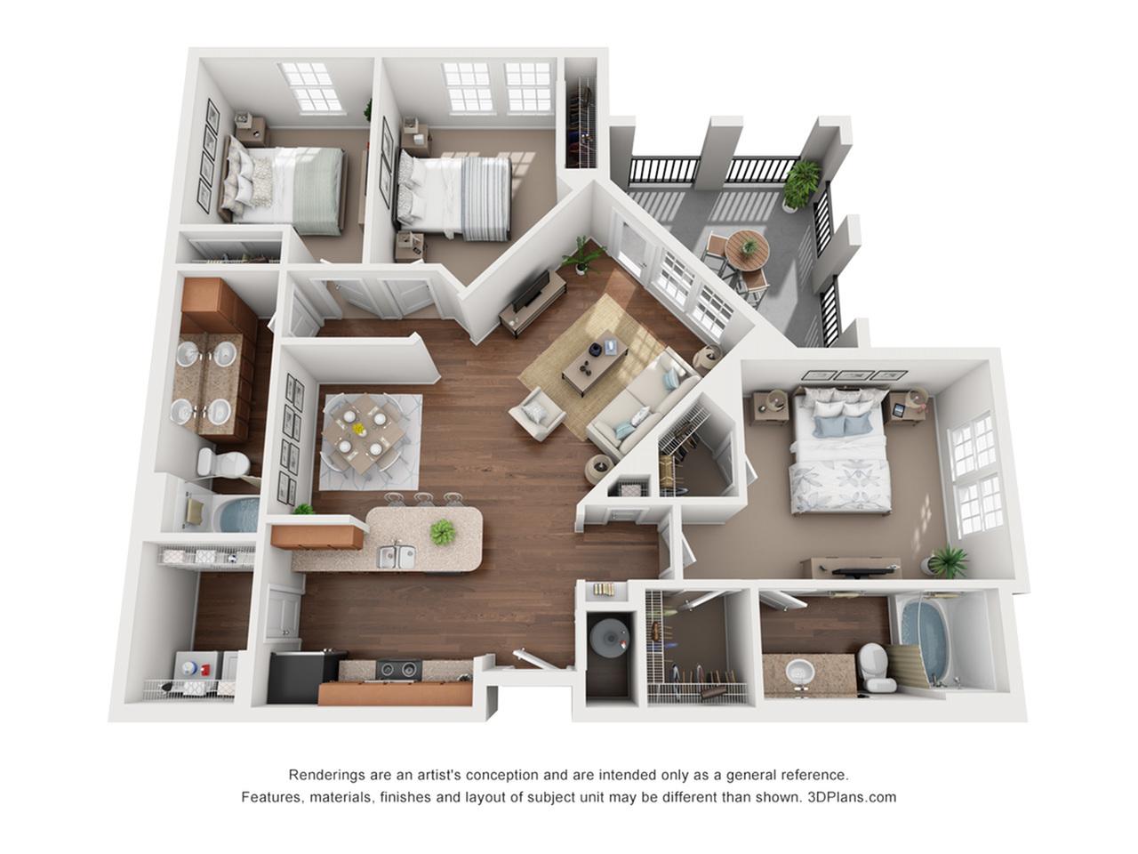 3 Bedrooms | The Vineyards at Hammock Ridge 2