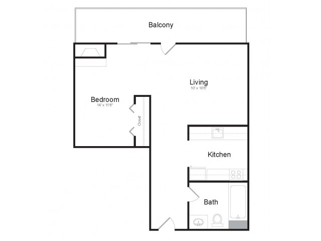 Cyrpress First Floor | Studio1 bath | from 473 square feet