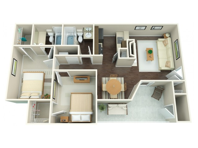 2x2 | 2 bed 2 bath | from 867 square feet