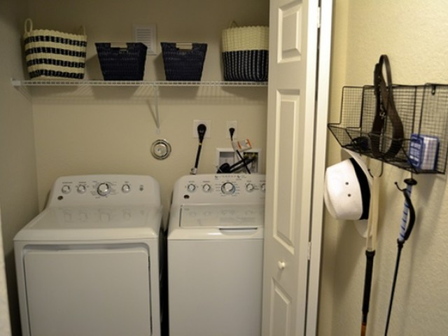 Full Size Washer and Dryer in each home