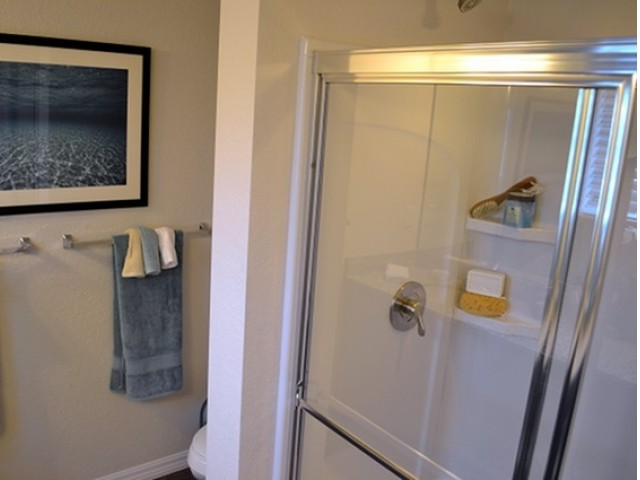 Image of Walk-In Shower in Townhome Master Baths for The Quaye at Wellington
