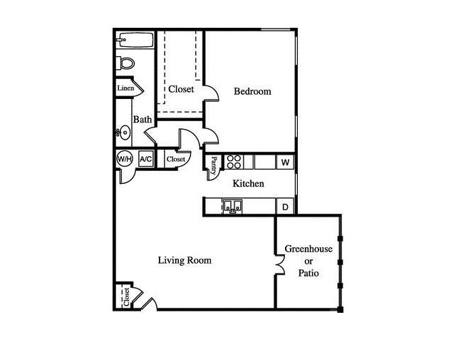 Floor Plan 1 | Greenhouse Apartments