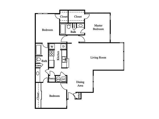 Floor Plan 6 | Greenhouse Apartments